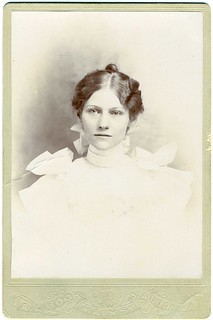 Cabinet Card: Anonymous Young Woman, Staunton, Virginia | by mrwaterslide