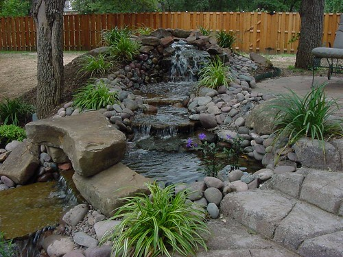 landscape designs waterfall southlake texas by one specialty