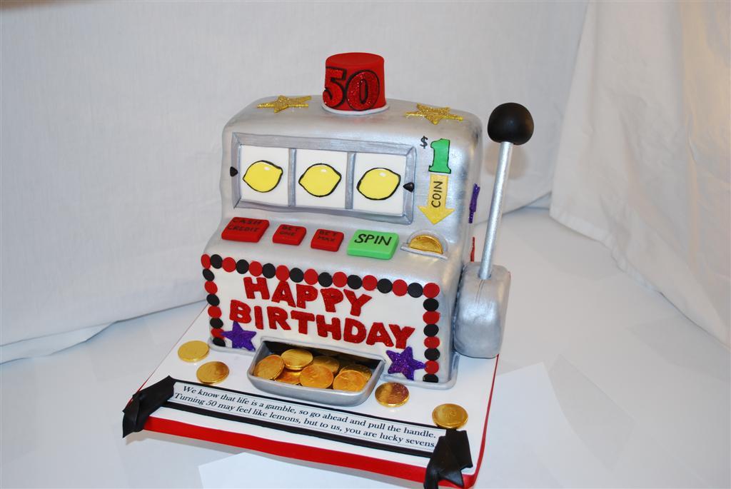 Slot Machine Cake Vanilla Cake Covered In Marshmallow
