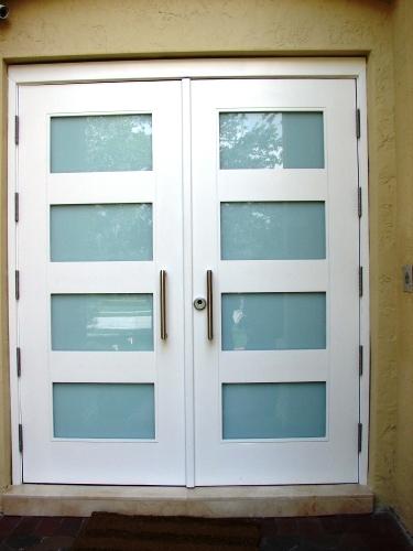 Modern Glass Exterior Doors