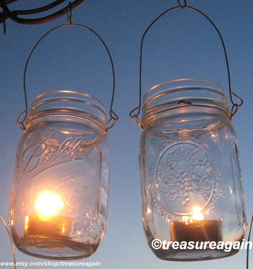 Mason Jar Lanterns DIY Wedding Mason Jars Lanterns Hangers…   Flickr