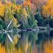 """Autumn's Art""  Grand Sable Lake, Pictured Rocks National Lakeshore, Michigan's Upper Peninsula  (explore # 196 Oct 7, 2010)"