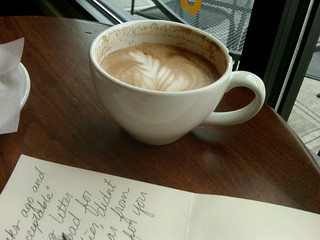 coffee shop letter writing | by HeatherHeatherHeather