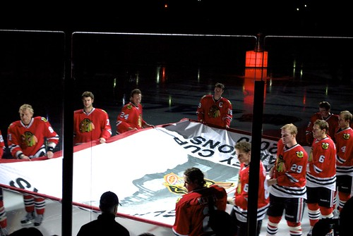 Chicago Blackhawks Stanley Cup Banner Ceremony
