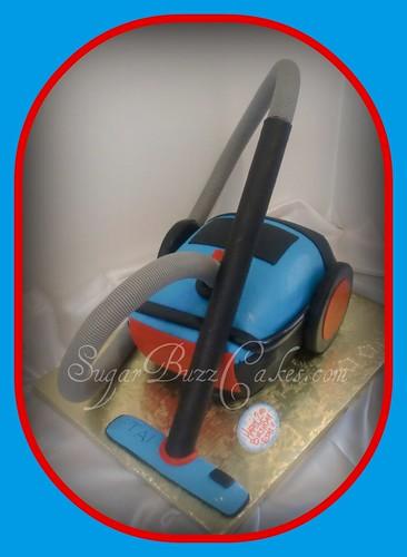 Vacuum Cleaner Birthday Cake