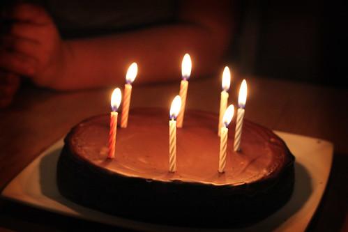 Happy Birthday Alicia Flourless Chocolate Cake For