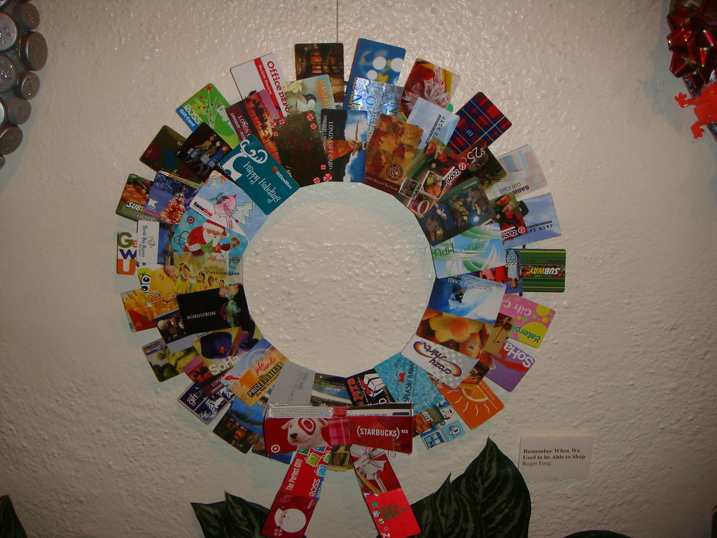 38- Gift Card Wreath | Candace Martin | Flickr