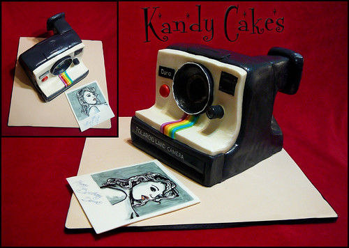 Poloroid Camera Cake by Kandy Cakes | by Leeroy Rokkenrohl