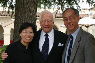 Author David McCullough and  Professors Huang  and Wang at President's Circle | by California State University Channel Islands