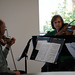 Channel Islands String Quartet member, Diana Ray-Goodman, playing at the Broome Library, March 2009