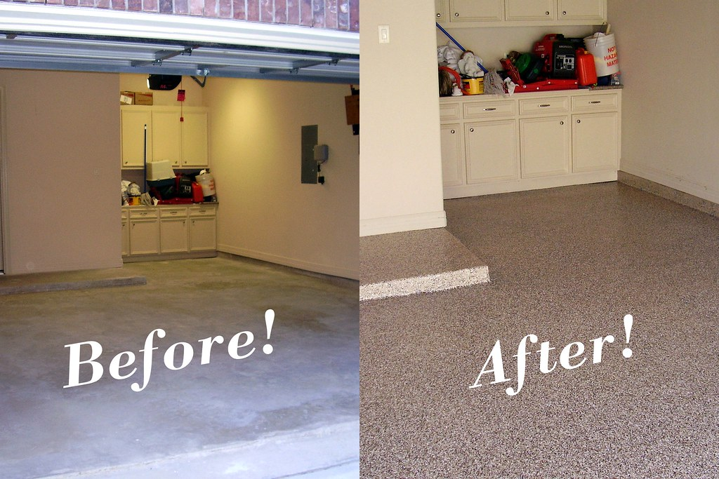 Epoxy Before And After : Before and after garage floor with tan epoxy donald