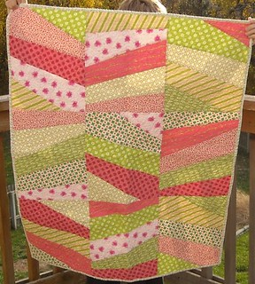 pink/green charity quilt | by vickivictoria