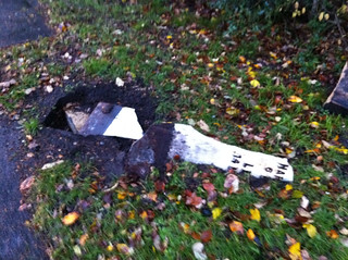 Harrogate milestone destroyed. Very sad. | by JohnBates