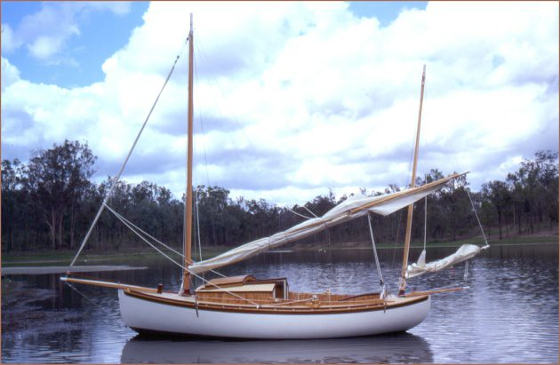 Otter afloat the beauty of a canoe yawl roger dahlberg for Bill garden designs