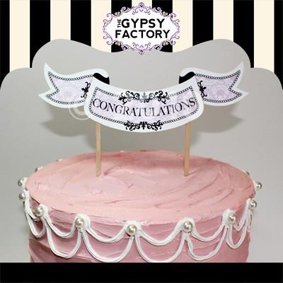 Congratulations Cake Topper Printable