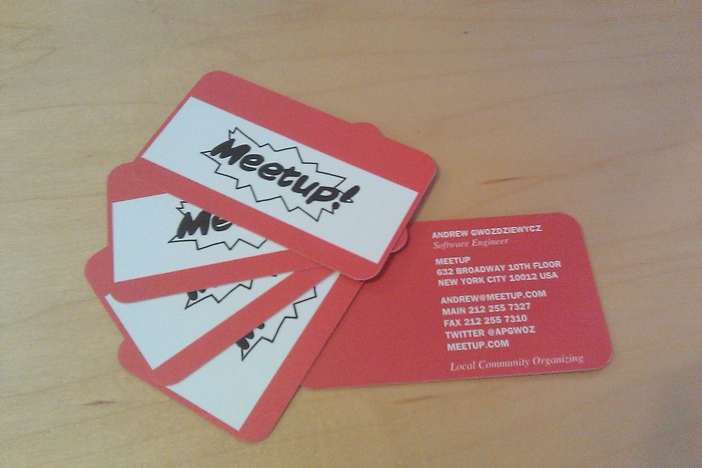 My custom designed @meetup business cards came! | Posted via… | Flickr
