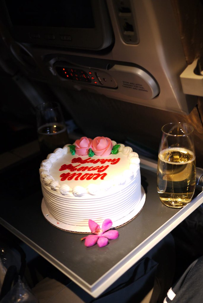 Chrisnorthwestern Surprise Happy Honeymoon Cake On Singapore Airlines