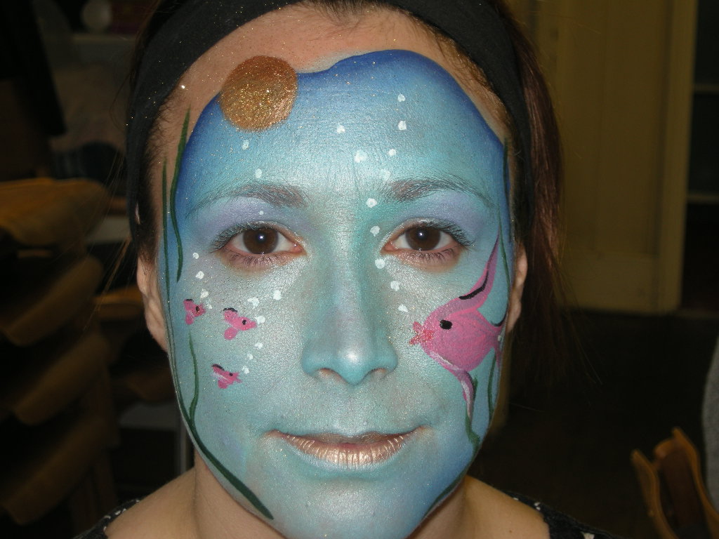 Under The Sea Face Painting Www Pampereddelights Co Uk