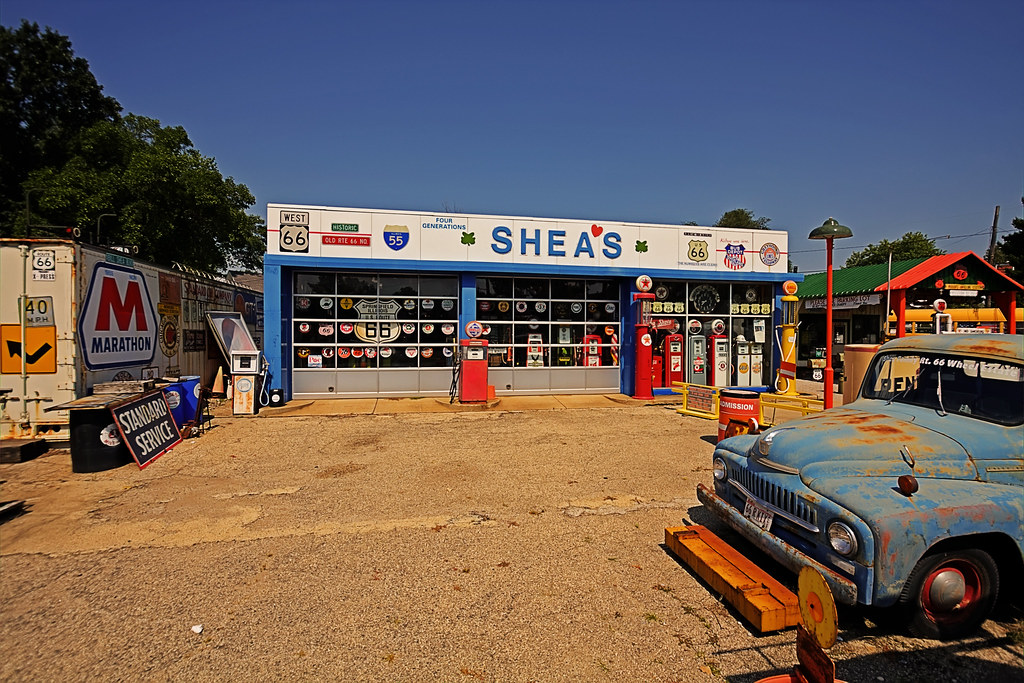 Shea S Gas Station Museum On Route 66 Springfield Illino