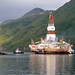 Shell Oil drilling platform