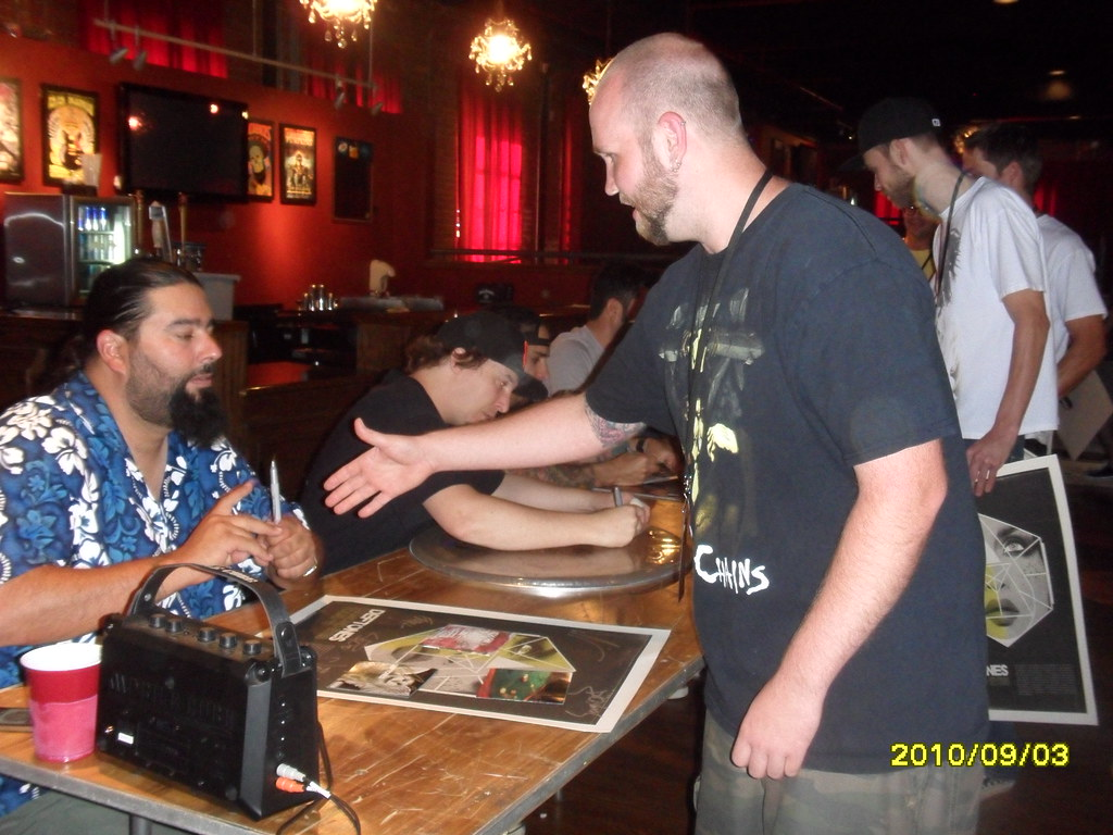 Deftones meet and greet steph signing stuff for ricky def flickr deftones meet and greet by sandbdogs m4hsunfo