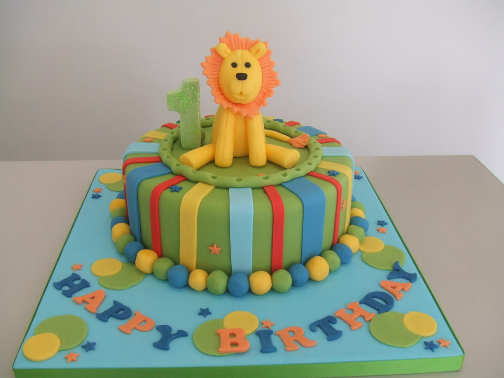 CAKE birthday lion display cake for studio by Jules Jules