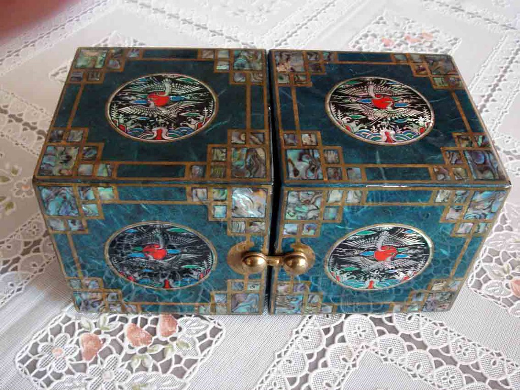Korean jewelry box Tealcolored Korean jewelry box with na Flickr