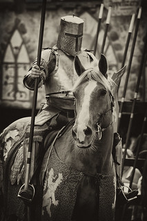 Knight on horse black and white | by AdGuy1970