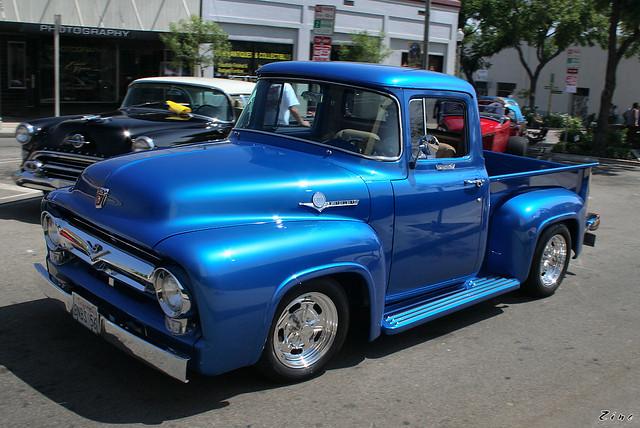 1956 Ford F100 - mod - blue - fvl | Flickr - Photo Sharing!