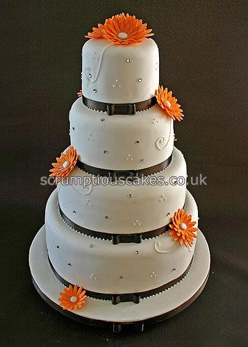 Wedding Cake White And Black