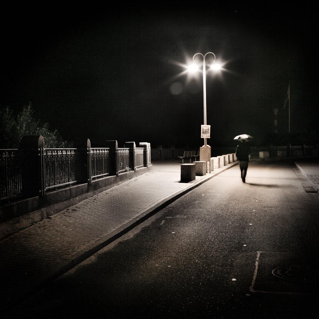 Lampadaire Rue Nuit Muntuit