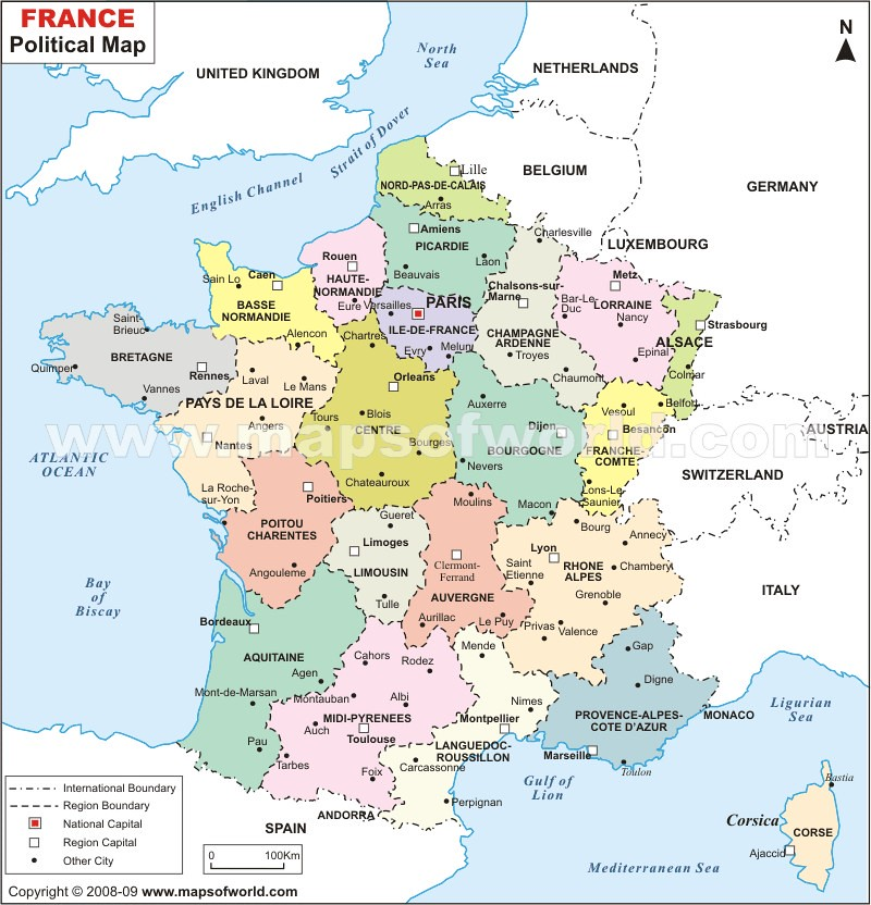France Political Map wwwmapsofworldcomfrancefrancepol Flickr