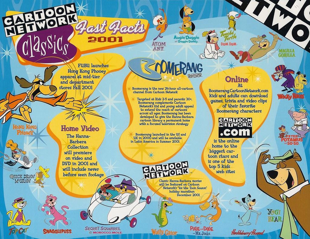 Hanna Barbera Boomerang From Cartoon Network Publicity Fly