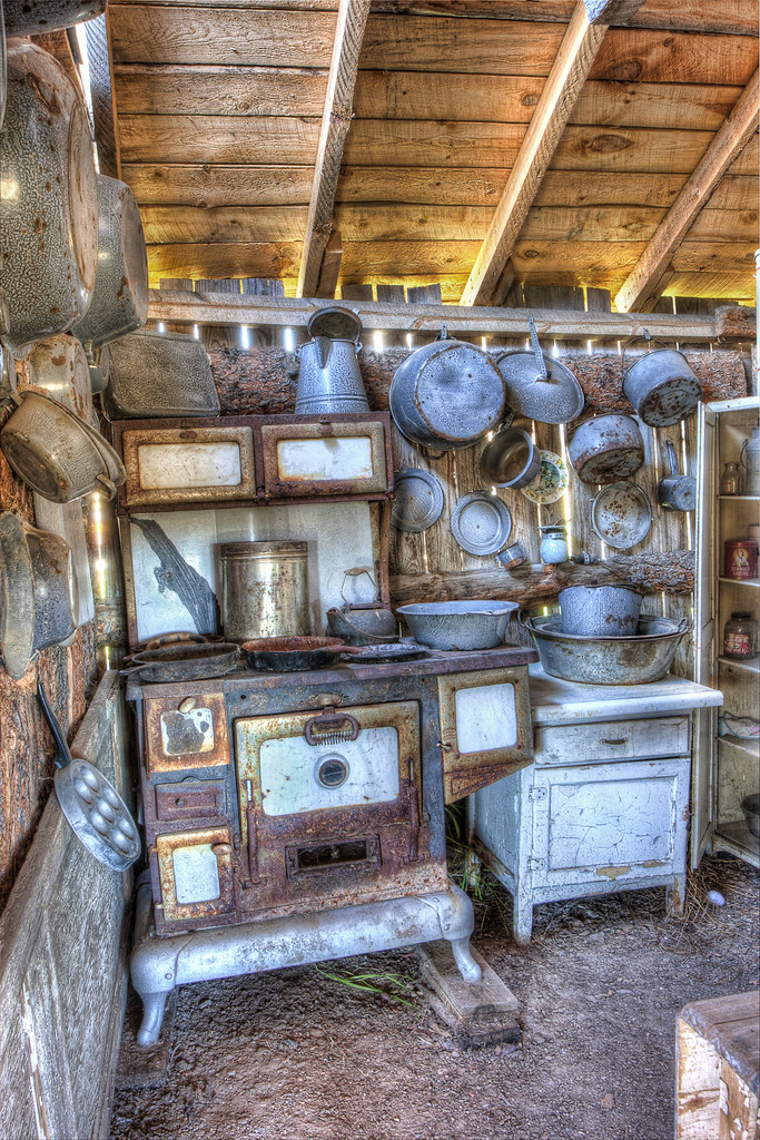 Old Kitchen With No Windows And A Door