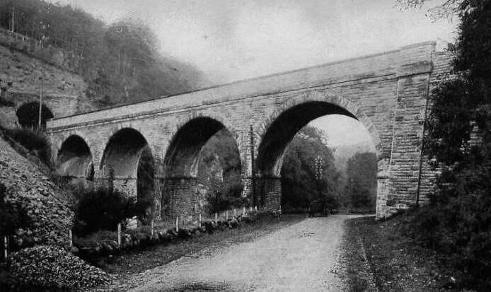 Old Photograph Railway Viaduct Glenfarg Perthshire Scotlan