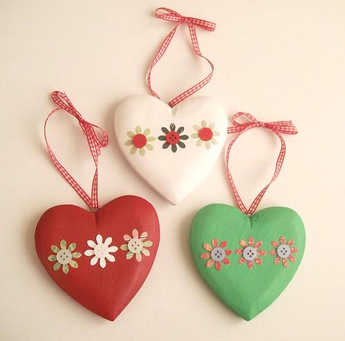 Heart Christmas Tree Ornaments Christmas Heart Ornaments