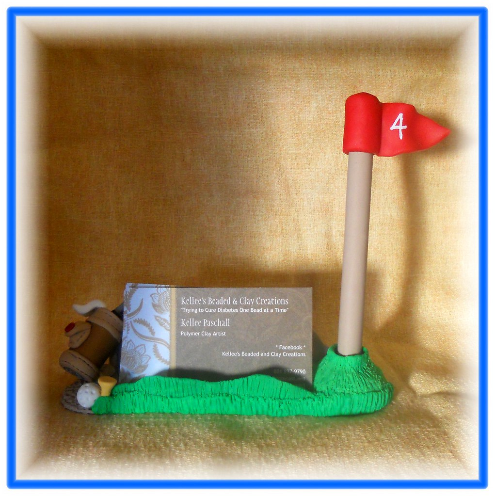 Polymer clay * Golf Pen and Business card Holder | Handcraft… | Flickr