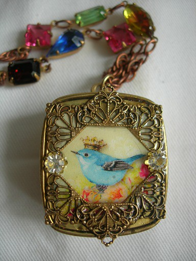 Blue bird of happiness miniature music box pendant flickr blue bird of happiness miniature music box pendant by my secret music box aloadofball Images