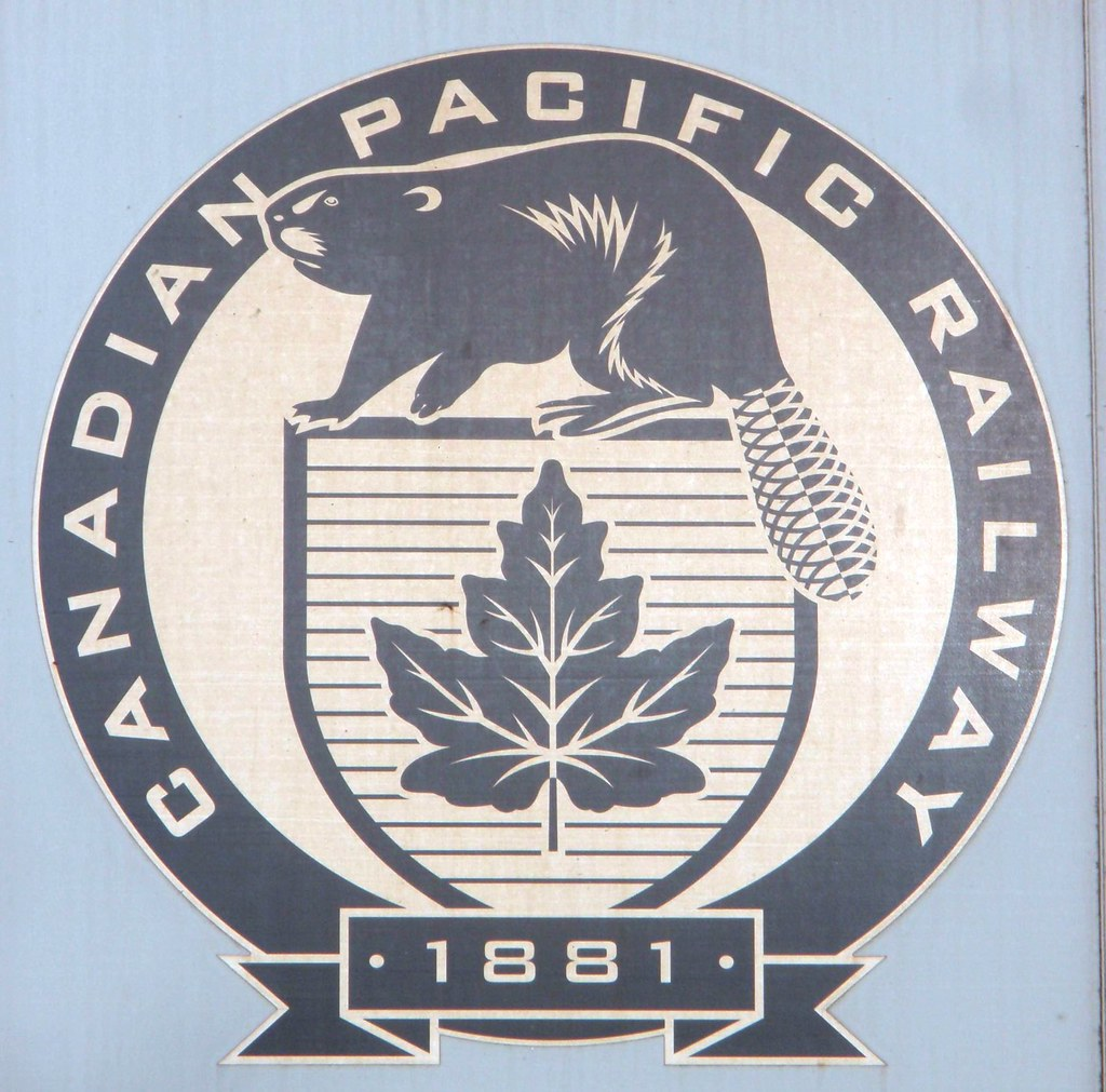 Canadian Pacific Railway Logo | Photographed on a grain ... Pacific Railway Company