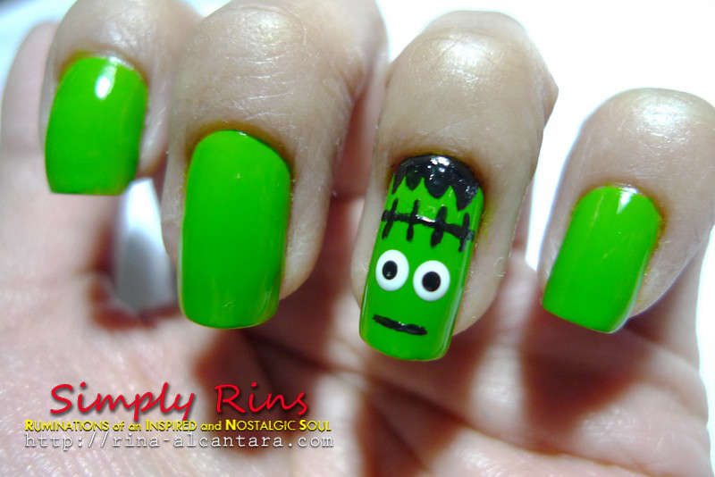 ... Nail Art Halloween Frankenstein 02 | by Simply Rins - Nail Art Halloween Frankenstein 02 Rina Alcantara Flickr
