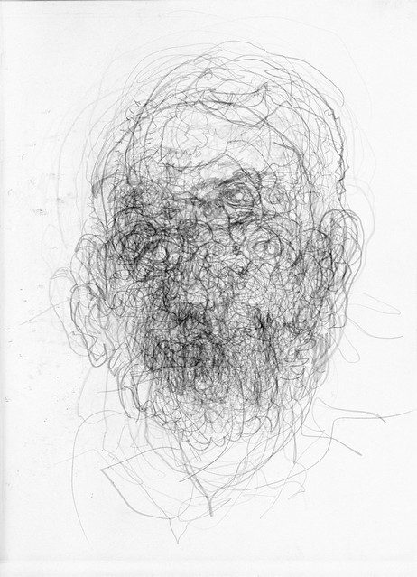 Blind Contour Line Drawing Self Portrait : Layered blind contour drawings flickr photo sharing