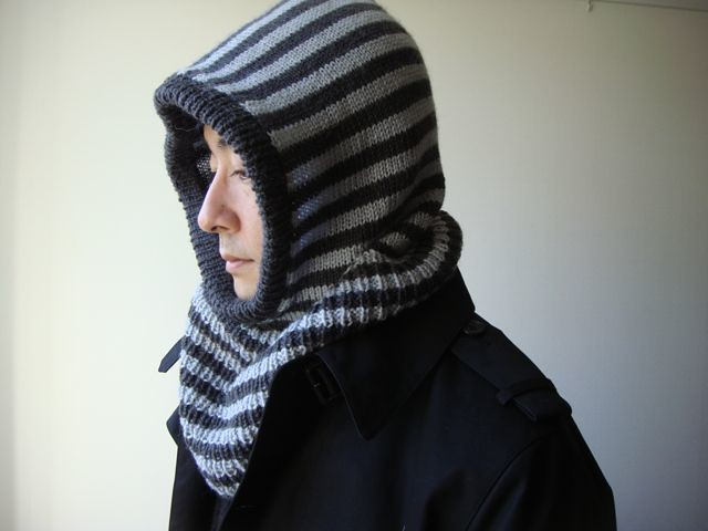 Free Knitting Pattern Hooded Neck Warmer : Hooded Neck Warmer Pattern from ?????(Japanese knitting ...