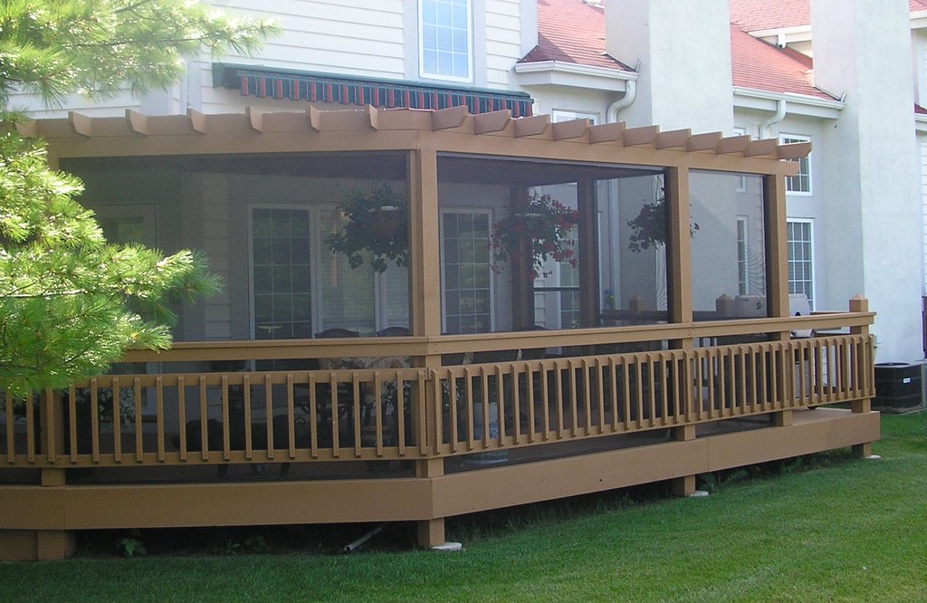 ... After Screened in Pergola with Shade Screen Cover | by Trendsetters Inc - After Screened In Pergola With Shade Screen Cover Trendset… Flickr
