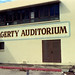 Exterior of Hagerty Auditorium