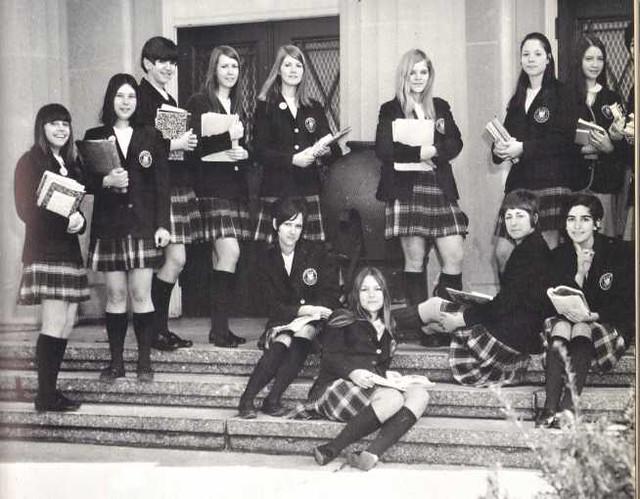 Catholic School Girls Uniform Tartan Plaid 1970  If You -9532