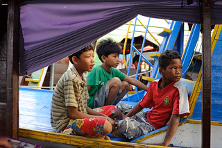 Cambodian Boys on Boat | by goingslowly