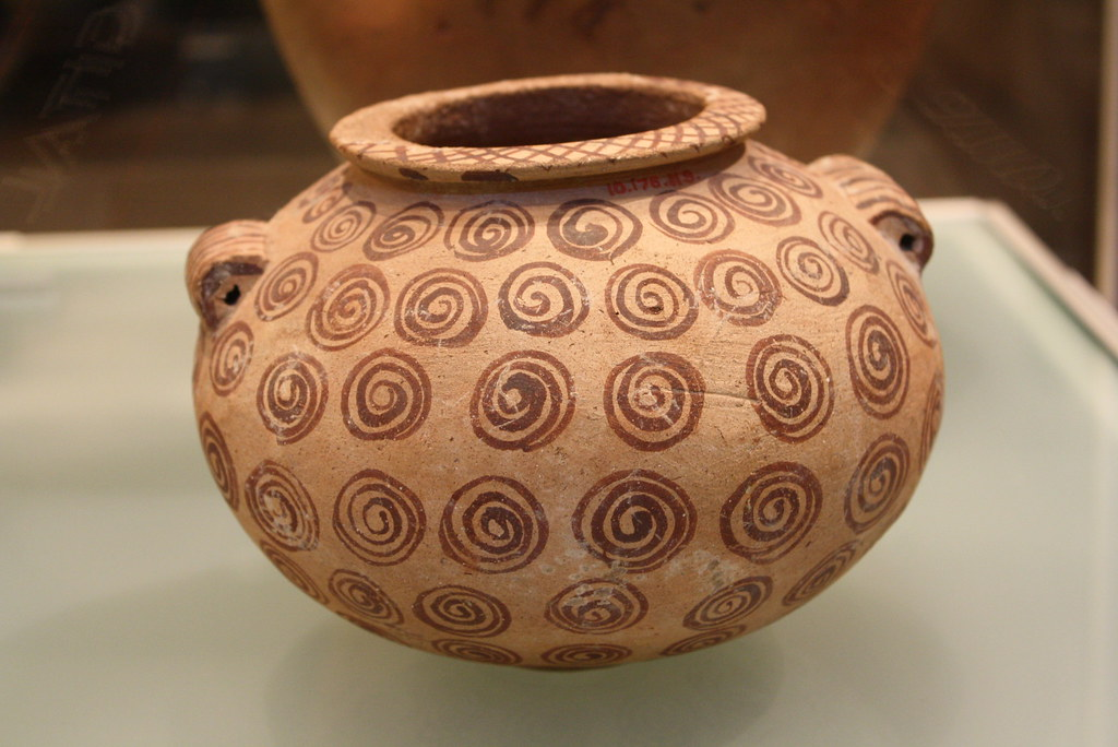 An Egyptian Predynastic Early Naqada Ii Pottery Jar Adorne
