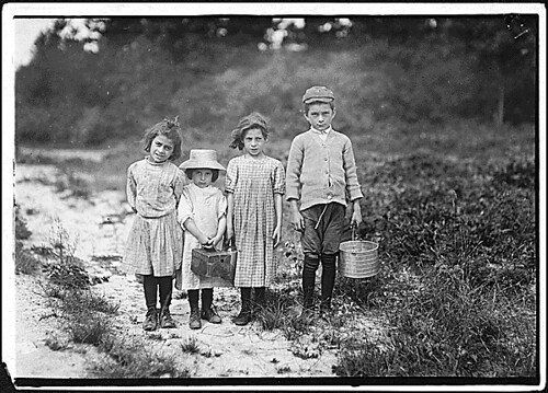 Three pickers going home from work... | by The U.S. National Archives