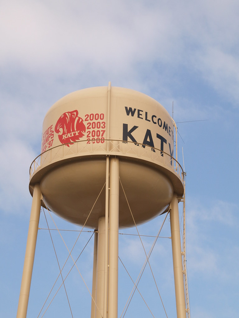 Katy Texas A Small Old Tx Town Water Tower 2010 Buildings