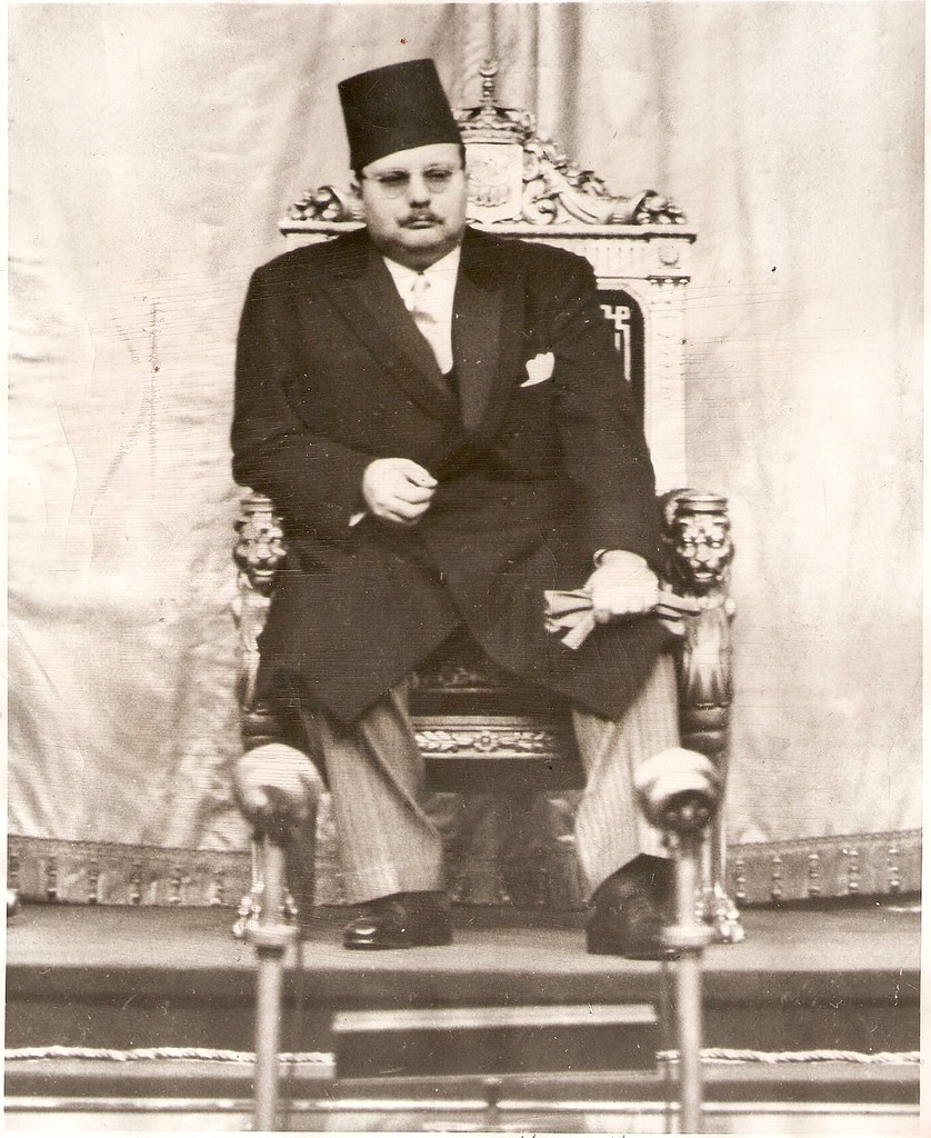 Hm King Farouk Of Egypt Listens From His Throne As The New Flickr